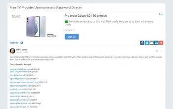 fake cable provider login
